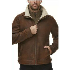 New Rainforest Men's Faux Shearling Lined Leather